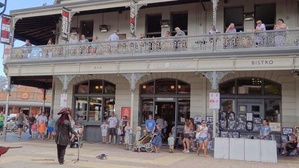 Perth Street Performer in Fremantle