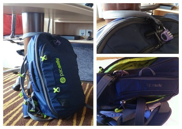 Pacsafe Venturesafe 45L GII Travel Backpack Cable Locking System