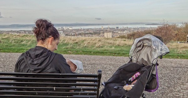 Nursing on Calton Hill in Edinburgh
