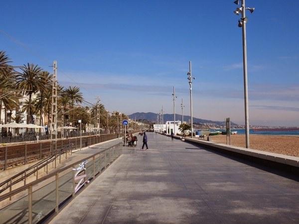 Badalona beachfront walkway Barcelona