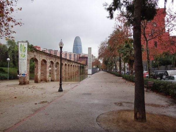 the path alongside parc del clot Barcelona