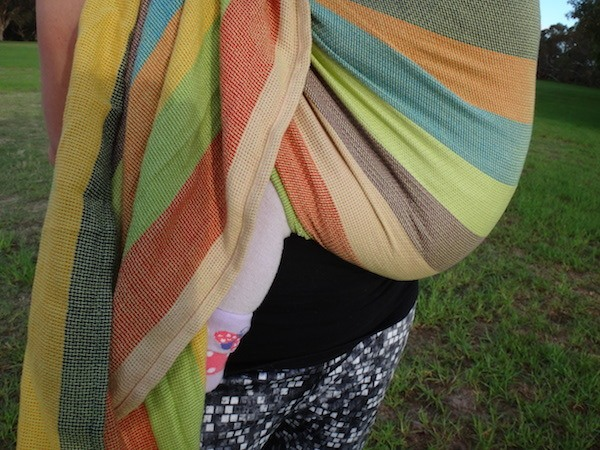 Hugabub Eucalyptus Dreaming Organic Mesh Ring Sling Fabric