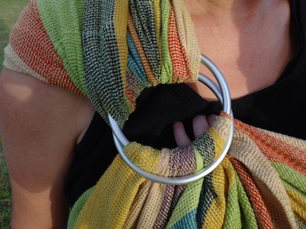 Hugabub Eucalyptus Dreaming Organic Mesh Ring Sling Little Fingers