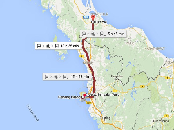 How To Get From Penang to Hat Yai