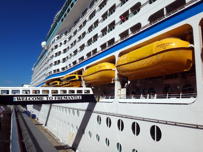 Explorer of the Seas arrives in Fremantle