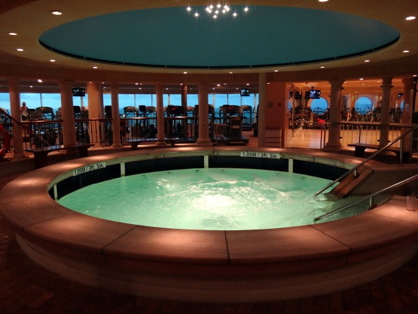 Gym hot tub on Explorer of the Seas