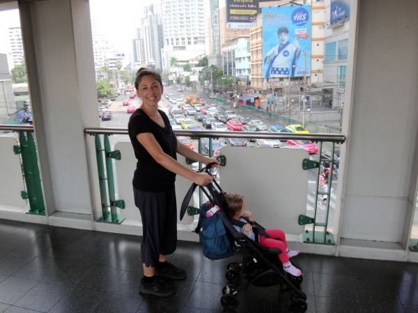 GB Pockit Stroller Bangkok walkway