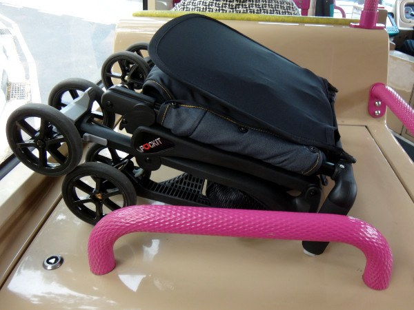 GB Pockit Stroller on Singapore bus