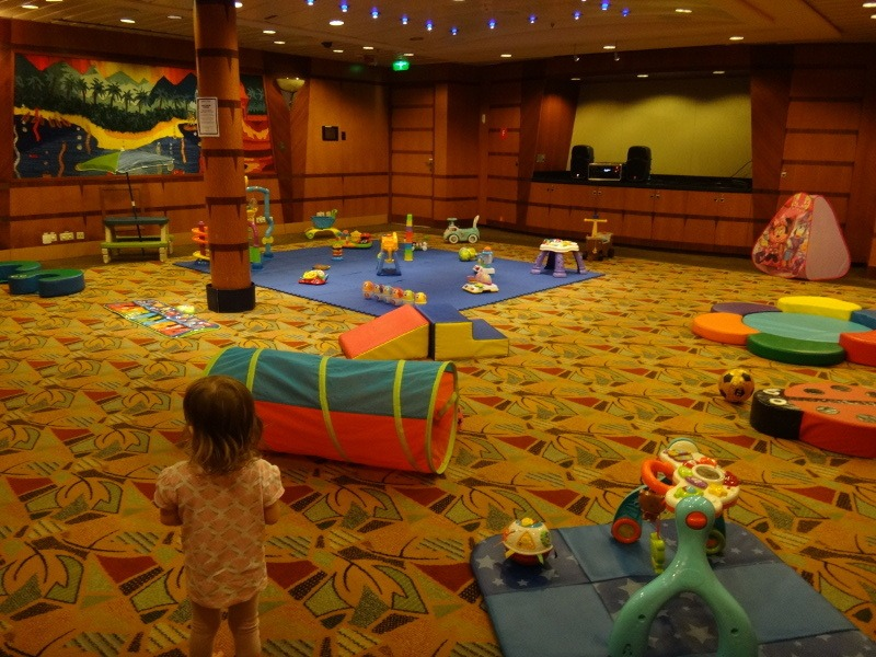 The under 3s toddler playroom room on Explorer of the Seas cruise