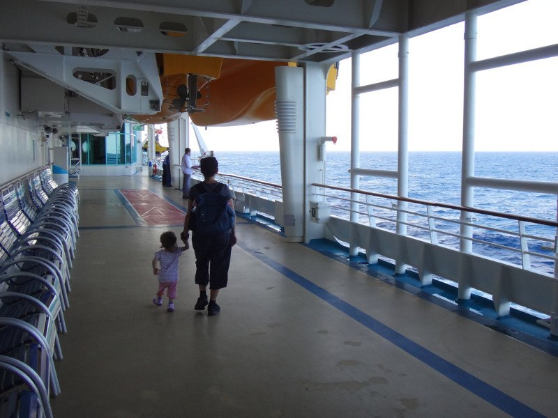 Zoe Tanya lower open deck Explorer of the Seas