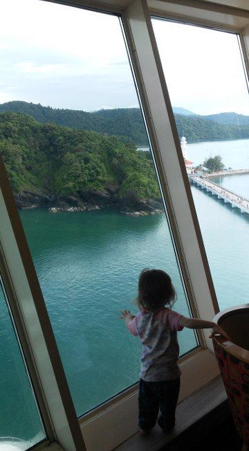 Zoe viewing Langkawi Explorer of the Seas Royal Caribbean