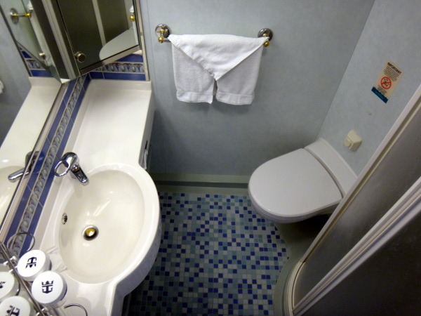cabin bathroom on Explorer of the Seas Royal Caribbean
