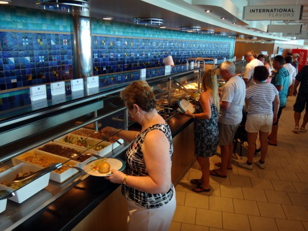 windjammer buffet Explorer of the Seas Royal Caribbean