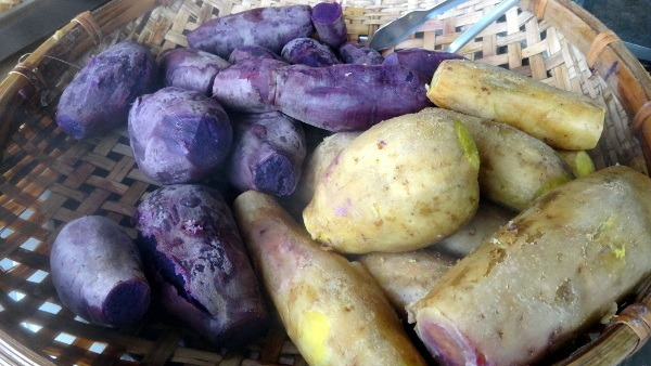 sweet potato for sale on the Pingxi railway line