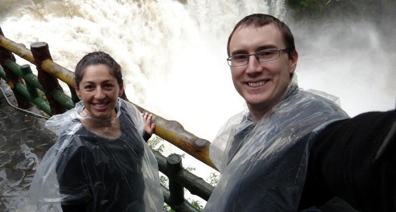 Tanya and Andrew at the Shifen waterfall