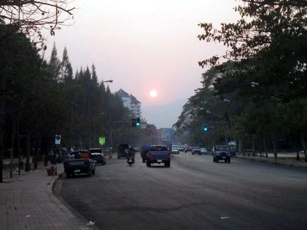 sunset chiang mai thailand