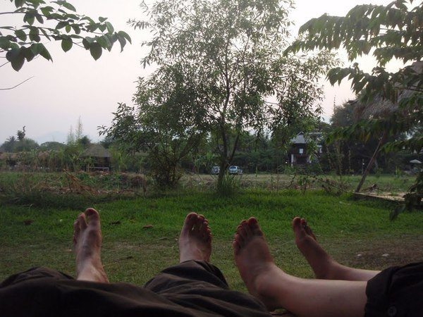 relaxing in Pai in Thailand