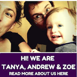 Hi! We are Tanya, Andrew and Zoe from MagicTravelBlog.com