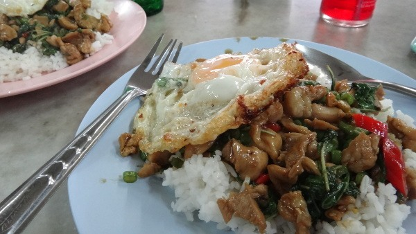 pad krapow gai, a favorite thai food