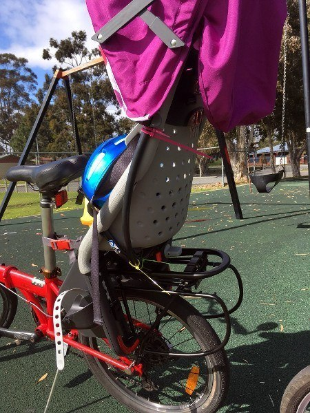folding bike with child seat for bike