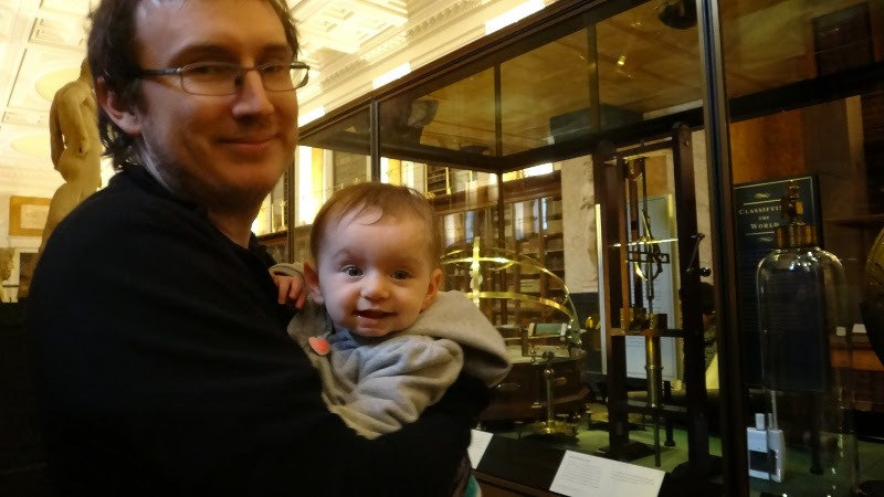 Enjoying a museum in London